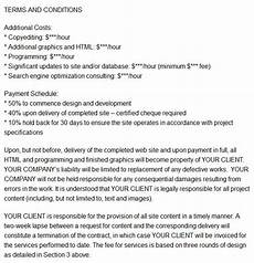 Contract For Website Design Services Printable Contract Templates