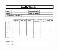 Timesheet Download Free 18 Sample Weekly Timesheet Templates In Google Docs