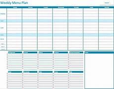 Free Weekly Menu Templates Weekly Menu Planner Template For Numbers Free Iwork