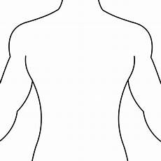 Outline Of Human Body Front And Back Human Body Outline Front And Back Drawing Clip Art Library