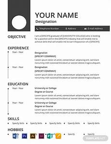 Editable Resume Template Free Blank Resume Template Word Doc Psd Indesign