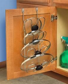 storage holder kitchen cupboard pot lid organizer rack