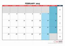 Month By Month Calendar 2015 Monthly Calendar Month Of February 2015 The Week Starts
