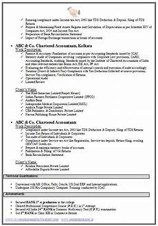 Sample Curriculum Vitae For Accountants Chartered Accountant Resume Format Freshers Page 2