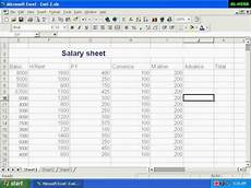 Salary Worksheet Excel Salary Sheet Ms Excel Youtube