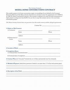 Construction Contract Free Download Construction Contract Template Cyberuse