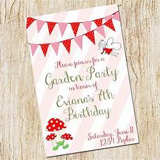 Garden Party Invites Garden Party Invitation Birthday Party Invitation Digital