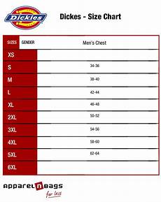 Dickies Size Chart Apparelnbags Com