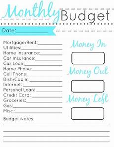 Simple Budgeting Tool Displaying Monthly Budget Printable Set Jpg Monthly