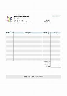 Reciept Templet Gold Shop Receipt Template Uniform Invoice Software