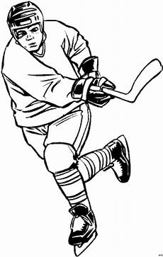 eishockeyspieler schiesst ausmalbild malvorlage comics