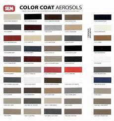 Sem Trim Paint Color Chart Sem Color Coat Satin Black Vinyl Spray Auto Paint Ebay