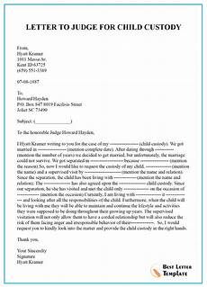 Custody Letter Best Of Example Of Letter To Judge For Child Custody And