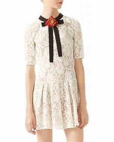 gucci lace dress in white lyst