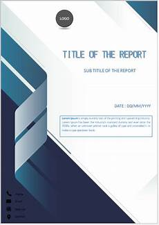 Cover Page For Assignment Free Download Folded Blue Stripe Cover Page Cover Page Template Cover