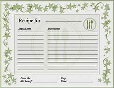 Word Template Recipe Ms Word Recipe Card Template Word Amp Excel Templates