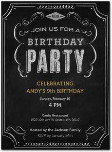 Evites For Party Chalkboard Inspired Digital Party Invitation Evite