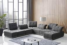 Modular Sofa Sectionals 3d Image by Divani Casa Ekron Modern Grey Fabric Modular Sectional Sofa