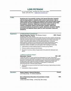 Writing A Teaching Resume Teacher Resume Templates Easyjob