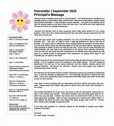 Newsletter Examples For Schools Free 15 Sample School Newsletter Templates In Pdf Psd
