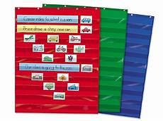 Web Organizer Pocket Chart Heavy Duty Pocket Chart Blue At Lakeshore Learning