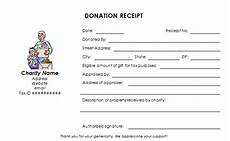 charitable donation receipt template word charitable donation receipt template