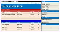 Booking Schedule Template Costume Rental Inventory And Booking Template Excel