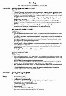 Emergency Room Rn Resumes Professional Nursing Resume World Of Reference