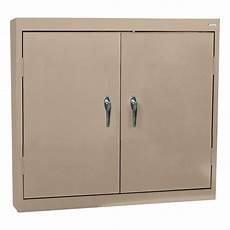 sandusky welded steel wall cabinet solid doors 36in