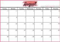Calendar August Free 5 August 2018 Calendar Printable Template Source