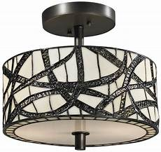 Contemporary Flush Mount Ceiling Lights Dale Tiffany Th12413 Willow Cottage Modern Contemporary