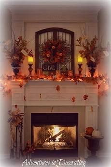 Decorate Fireplace Lighting Add Lights Fall Mantel Decorations Fall Fireplace Fall