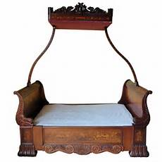 Vintage Canopy Bed Walnut And Floral Marquetry Canopy Bed Antiques Atlas