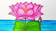 Drawings Of A Flower How To Draw Lotus Flower Step By Step Easy Draw For