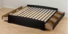 prepac black eastern king platform storage bed 6 drawers