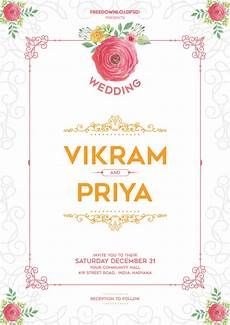 Invitation Free Download Wedding Invitation Template Download Freedownloadpsd Com