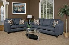 grey fabric modern loveseat sofa set w options