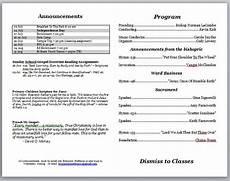 Bulletin Template Free Church Bulletins Church Accounting Software Guide