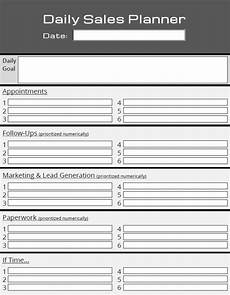 Daily Sales Planner Template 46 Of The Best Printable Daily Planner Templates Kitty