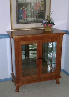 handmade small china cabinet by dunbar woodworking designs