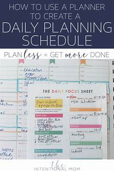 Create A Schedule How To Use A Planner To Create A Daily Planning Schedule