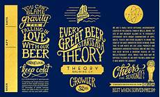 Crowler Label Design Theory Brewing Co Crowlers Label Design
