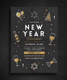 New Years Template New Year Celebration Flyer By Guuver On Flyer Template