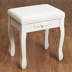hartleys white dressing table stool soft padded chair