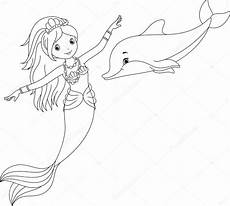 Ausmalbilder Delphin Meerjungfrau Mermaid And Dolphin Pages Coloring Pages