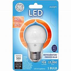 40w Refrigerator Light Bulb Ge 40w Equivalent Uses 4 5w Daylight A15 Led Appliance