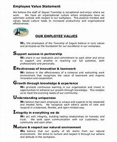 Values Examples Employee Value Example2