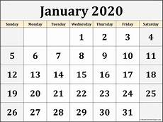 Calendar Print Out 2020 January 2020 Blank Calendar Templates