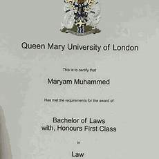 First Class Honors Maryam Muhammed Graduates With First Class Honours In Law
