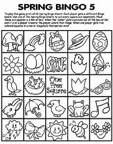 Bingo Coloring Pages Spring Bingo 5 Coloring Page Crayola Com